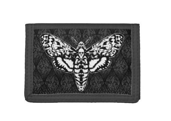 Death Head Moth wallet trifold black