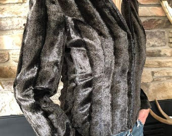 Faux Fur Jacket Size Small Size Small Giancarlo Ferrari Excellent Condition