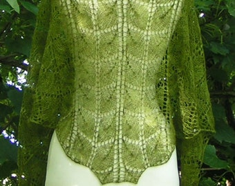 Lace Shawlette Designer Handknit Cashmere MOTHER NATURE Lightweight Warm and Luxurious