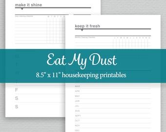 Housekeeping Printables - Editable PDF - Digital Download - Standard Letter Size