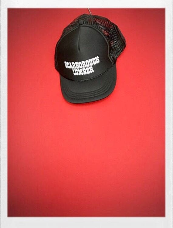 Vintage Men's Trucker Hat Black Scarborough Lumber