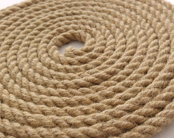 10 mm Diameter Natural Jute Hessian Rope sold by meter up to 50m