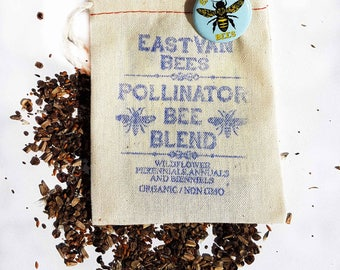 Bee Blend Wildflower seed pack with bee pin