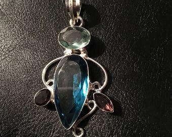 Sterling Silver and gemstone pendant