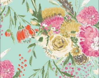 Summer Bouquet Clear Art Gallery KNIT Fabric