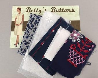Vintage Fabric - remnants pack O