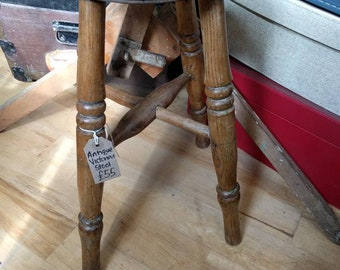 Antique Victorian wooden stool