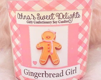 Gingerbread Girl Girly Confectionery Soy Candle
