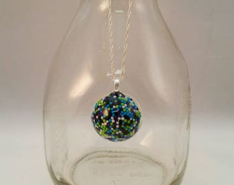 Sprinkles Pendant with Sterling Silver Chain