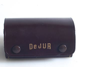 Leather Dejure Lens And Filter Case//Steampunk Parts