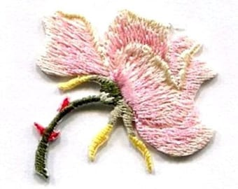rose pink ROSE  IRON ON patch appplique
