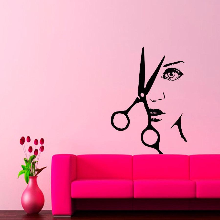 Conosciuto Muro decalcomanie parrucchieri capelli salone di bellezza BK08