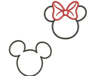 Mickey and Minnie Mouse Applique