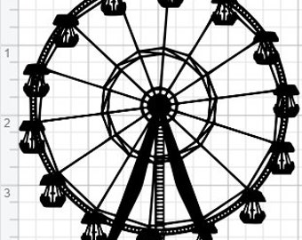 Ferris Wheel Design SVG EPS DXF pdf Studio 3 Cut Files