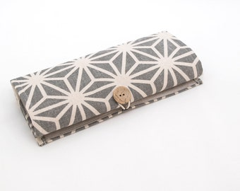 Organizer for jewelry. Holder for women. jewelry storage. Travel organizer, for home and travel. Gray, beige linen. Gift for women