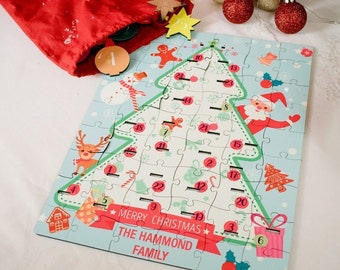 Advent Calendar Jigsaw Puzzle - Personalised