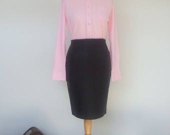 60s Top Baby Pink Blouse