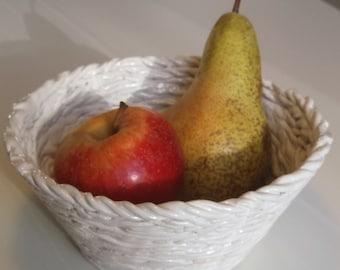 White Ceramic Basket