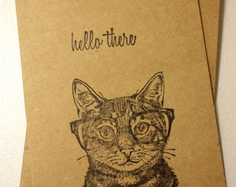 "Fun, Cat-Themed ""Hello There"" Cards 
