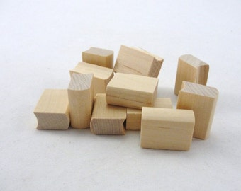"12 Mini Wooden books, 1"" unfinished wood book"