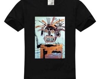 Black Basquiat art tshirt