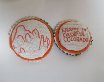 Colorful Colorado and Garden of the Gods Magnets handmade