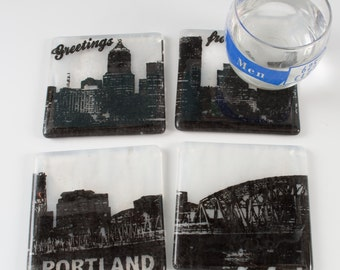 Greetings from Portland Skyline Coasters - Made to order