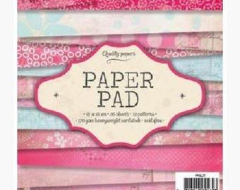 "Paper / pad ""Pink"" scrapbooking Paper"
