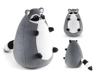 Fatty Raccoon plush toy | Stuffed Racoon doll | Plush Raccoon doll | Stuffed Raccoon softie | Raccoon stuffed animal | Racoon toys