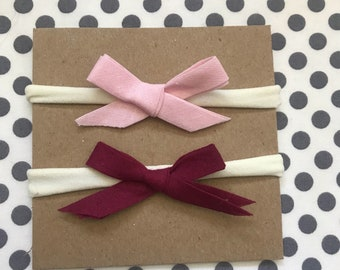 Pink and Plum headbands