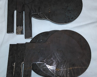 """AR500 Dueling tree set of 6 paddles 3/8"""" thick"""