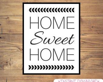 Home Sweet Home 9x12 *Digital Print* Home Decor