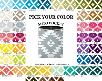 Auto Pocket - Aztec - PICK YOUR COLOR - Car Accessory Automobile Caddy