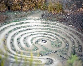 Natural labyrinth, color photograph