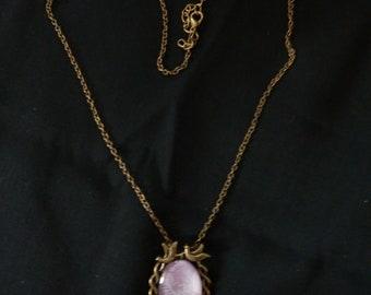 Purple deer necklace