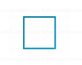 Square Applique Embroidery Design Instant Download