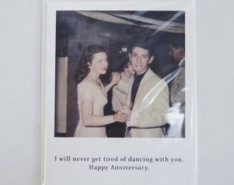 Dancing With You Anniversary Card