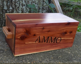 cedar box, wooden ammo box