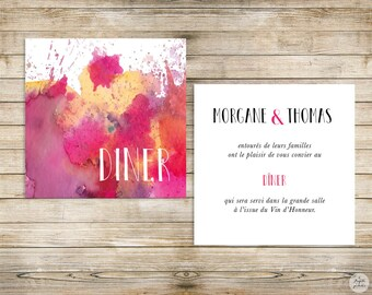Watercolor - lunch/Brunch - wedding invitation wedding Invitation collection