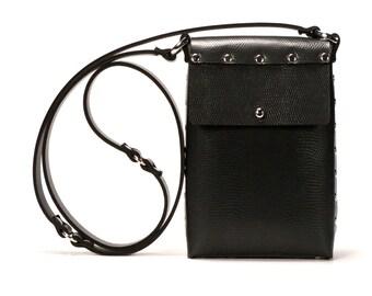 Ebony Mobile Bag | Black Cell Phone Bag | Vegan | Made in USA