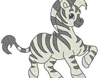 Precious Zebra Machine Embroidery Designs