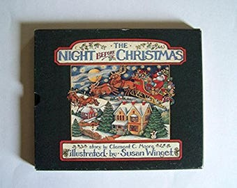 The Night Before Christmas - Hardcover Book With Slipcase Illustrated by Susan Winget - Story by Clement Moore - Children's Book