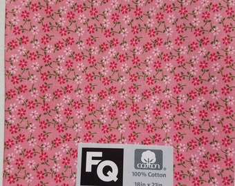 """Fabric Quarters Cotton Fabric 18""""- Pink Floral"""