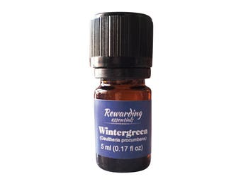 Wintergreen Essential Oil 100% Pure Therapeutic Grade by Rewarding Essentials