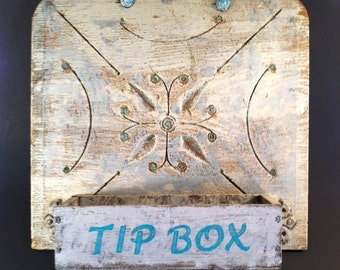 Mom's Kitchen Vintage Shabby-Decorated Tip Box