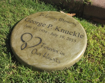 Memorial & Tribute Stone 11 inch In Loving Memory / Forever in Our Hearts