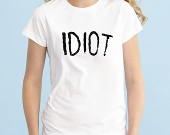 IDIOT Tshirt, 5SOS Band Tshirt, Michael Clifford 5 Seconds of Summer T-Shirt, Fangirl Shirt, Black Grey White Adult Tshirt