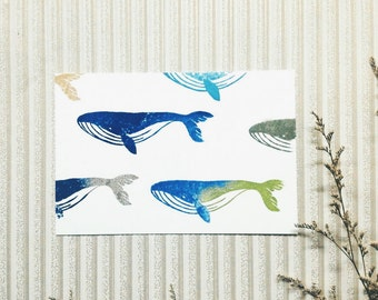 Whale hand carved rubber stamp.whale rubber stamp.whale stamp.animal stamp.zoo stamp. Unmounted