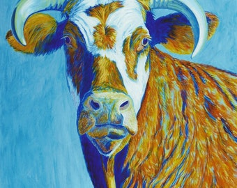 The Mother-in-Law - range cow, matted fine art photo print