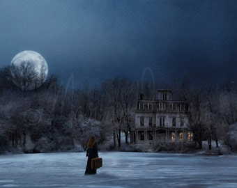 Conceptual Art. Fine Art Photography. Photographic print. Winter Scene. Mysterious. Fantasy. Dreamlike. Home or Office Decor.